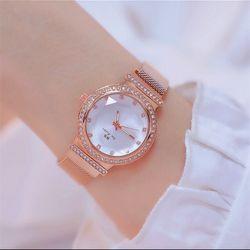 Đồng hồ nữ Bee Sister mặt vát 3d dây titanium cao cấp giá sỉ