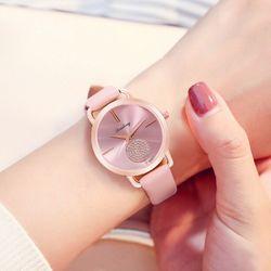 Đồng hồ nữ Qicaihong dây da cao cấp sành điệu giá sỉ