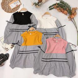 Áo babydoll sọc phối giá sỉ