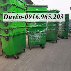 Giảm giá xe thu gom rác nhựa HPDE 660 giá sỉ