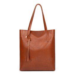 Túi xách nữ Túi Tote đeo vai da trơn vừa A4 D771 giá sỉ