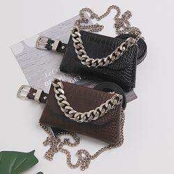 Túi đeo chéo đeo bụng dây kim loại to xu hướng mới D756 giá sỉ