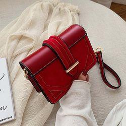 Túi đeo chéo vuông phối nhung cá tính D736 giá sỉ