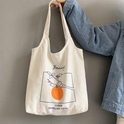 Túi tote Túi vải đeo vai họa tiết quả cam nổi bật D714 giá sỉ