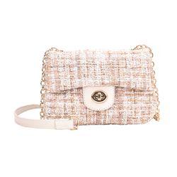 Túi đeo chéo chất dạ đẹp khóa tròn thời trang mới D726 giá sỉ, giá bán buôn