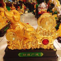 Tượng chuột phong thuỷ kéo đồng tiền vàng giá sỉ