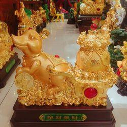Tượng chuột phong thuỷ kéo túi tiền vàng giá sỉ