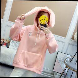 Áo hoodie tay thỏ về ba màu giá sỉ