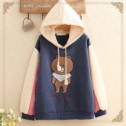 Áo hoodie logo gấu trước giá sỉ
