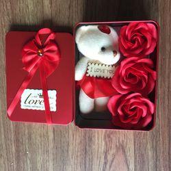 Hộp quà tặng Gấu hoa giá sỉ