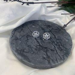 Bông tai xi bạch kim cao cấp AB2714 giá sỉ