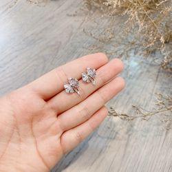 Bông tai bạc 925 đá zircon cao cấp AB43111 giá sỉ