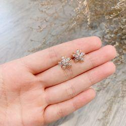 Bông tai bạc 925 đá zircon cao cấp AB44611 giá sỉ