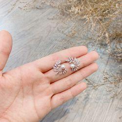 Bông tai bạc 925 đá zircon cao cấp AB44491 giá sỉ