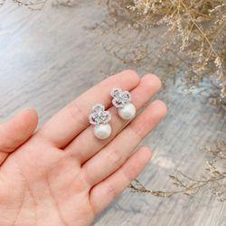 Bông tai bạc 925 đá zircon cao cấp AB4857 giá sỉ