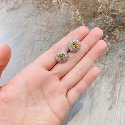 Bông tai bạc 925 đá zircon cao cấp AB4834 giá sỉ