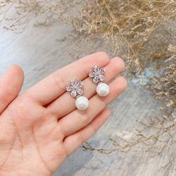 Bông tai bạc 925 đá zircon cao cấp AB4862 giá sỉ