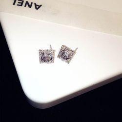 Bông tai bạc 925 đá zircon cao cấp AB4719 giá sỉ