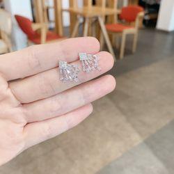 Bông tai xi bạch kim cao cấp AB0114 giá sỉ