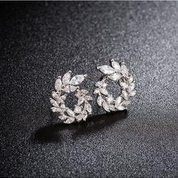 Bông tai đá zircon bạc 925 cao cấp AB4463 giá sỉ
