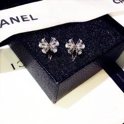 Bông tai bạc 925 đá zircon cao cấp AB4311 giá sỉ