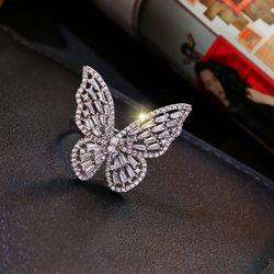 Nhẫn bướm đính đá bạc 925 cao cấp AN5181 giá sỉ