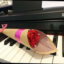 Hoa hồng vải Handmade giá sỉ