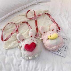 Túi đeo chéo hình thỏ chất vải bông mềm đẹp siêu đáng yêu VIDEO