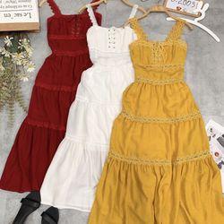 Đầm viền ren form maxi giá sỉ