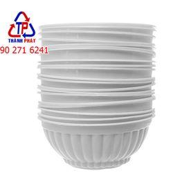 50 Chén màu trắng sữa đựng chè - Chén PP Sữa nhỏ - Chén nhựa nhỏ đựng chè đựng thức ăn giá sỉ