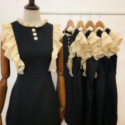 Đầm Đen Bèo Vai giá sỉ