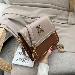 Túi đeo chéo Sennai gắn ong viền đinh thời trang VIDEO