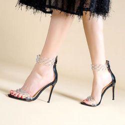 Giày sandal cao gót bọc đinh giá sỉ