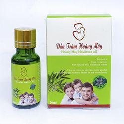 Tinh dầu tràm nguyên chất HOÀNG MÂY chai tròn 20ml cho bé phụ nữ sau sinh và người lớn tuổi giá sỉ