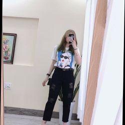 Baggy jeans nữ Manggo đen giá sỉ