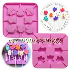 Khuôn silicon làm kẹo kem hình gấu heo – Mã số 288 giá sỉ