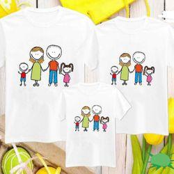 áo thun gia đình dễ thương t203 giá sỉ