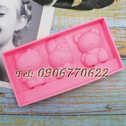 Khuôn silicon làm kẹo kem Kitty – Mã số 340 giá sỉ