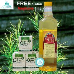 COMBO 3 chai Tinh dầu TRÀM GIÓ MHT chai 10ml tặng 1 chai dầu ăn NEPTUNE 1 lít TTC giá sỉ
