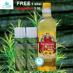 COMBO 2 chai Xịt sát khuẩn MELAROMA Spray chai 100ml tặng 1 chai dầu ăn NEPTUNE 1 lít TTC giá sỉ
