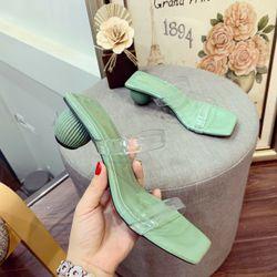 Giày sandal đế tròn khứa
