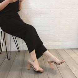 Giày sandal cao bản trong gót fale giá sỉ