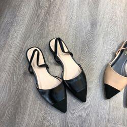 Giày sandal bít mũi phối màu giá sỉ