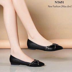 Giày búp bê nữ viền đinh cao cấp