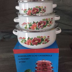 Bộ 3 nồi bằng men porcelain cao cấp giá sỉ