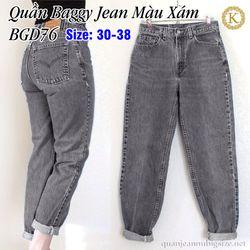 Quần Baggy Jean Bigsize Màu Xám BGD76 size 33-35 giá sỉ