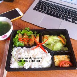 Hộp nhựa đen đựng đồ ăn đẹp tiện lợi giá rẻ giá sỉ