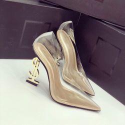 Giày Cao Gót Trong Gót Vàng giá sỉ