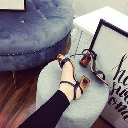 Giày sandal cao phối gót mới T got cao 7 p chẫt da mờ đẹp giá sỉ
