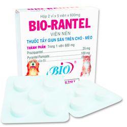 Thuốc tẩy giun sán cho chó mèo Bio Rantel 1 hộp 10 viên - 79202